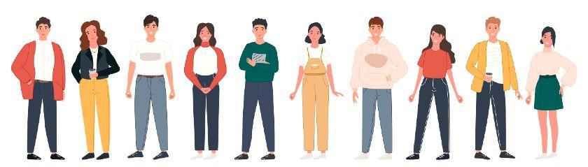 Groupe d'individus a égalité entre hommes et femmes